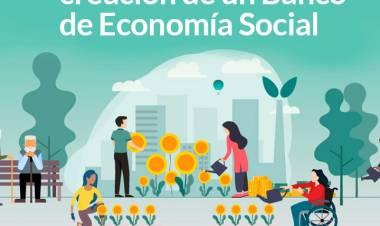 Gestiones para la creación de un Banco de Economía Social ⠀