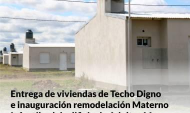 Llegó el día de la entrega de viviendas de Techo Digno e inauguración de obras este lunes 12.