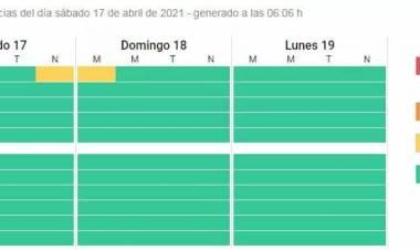 TORMENTAS FUERTES CON RAFAGAS Y OCASIONAL CAIDA DE GRANIZO.