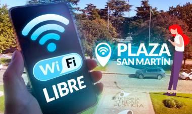 Volvió el Wi-Fi gratis a plaza San Martín