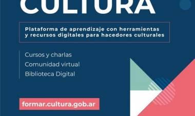 Formar Cultura, una plataforma virtual de capacitación y formación⠀
