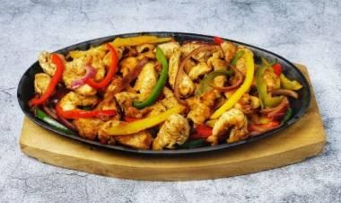 Recetas sencillas: fajitas de pollo con pimiento morrón