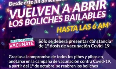 Desde este fin de semana VUELVEN A ABRIR LOS BOLICHES BAILABLES!