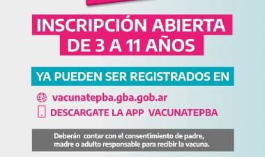 Vacuna covid: Abierta la inscripción para niños de 3 a 11 años⠀