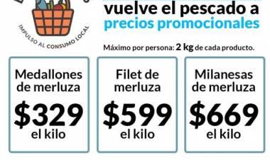 Programa Entre Todos: Martes, miércoles y jueves vuelve el pescado a precios promocionales