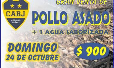El Club Atlético Boca Juniors realiza una gran venta de pollo asado