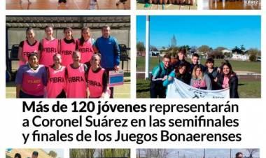 Más de 120 jóvenes representarán a Coronel Suárez en las semifinales y finales de los Juegos Bonaerenses
