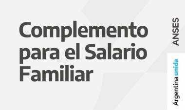 Complemento mensual para el Salario Familiar