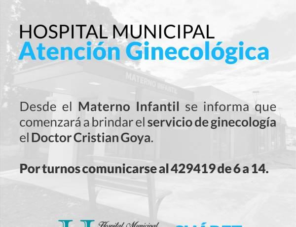 Hospital Municipal: atención ginecológica