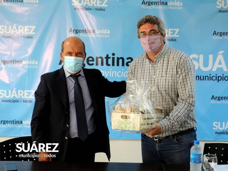 Visita del ministro de Desarrollo Agrario Javier Rodríguez..