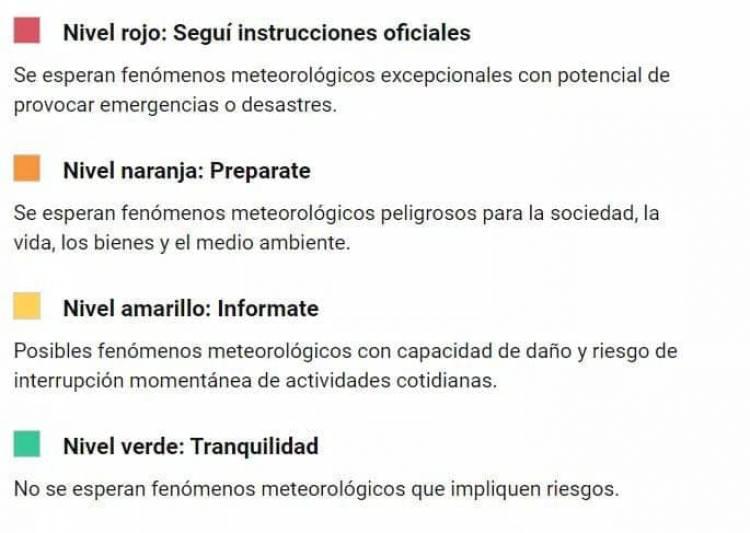 INFORMA EL SERVICIO METEOROLÓGICO DE CORONEL SUÁREZ