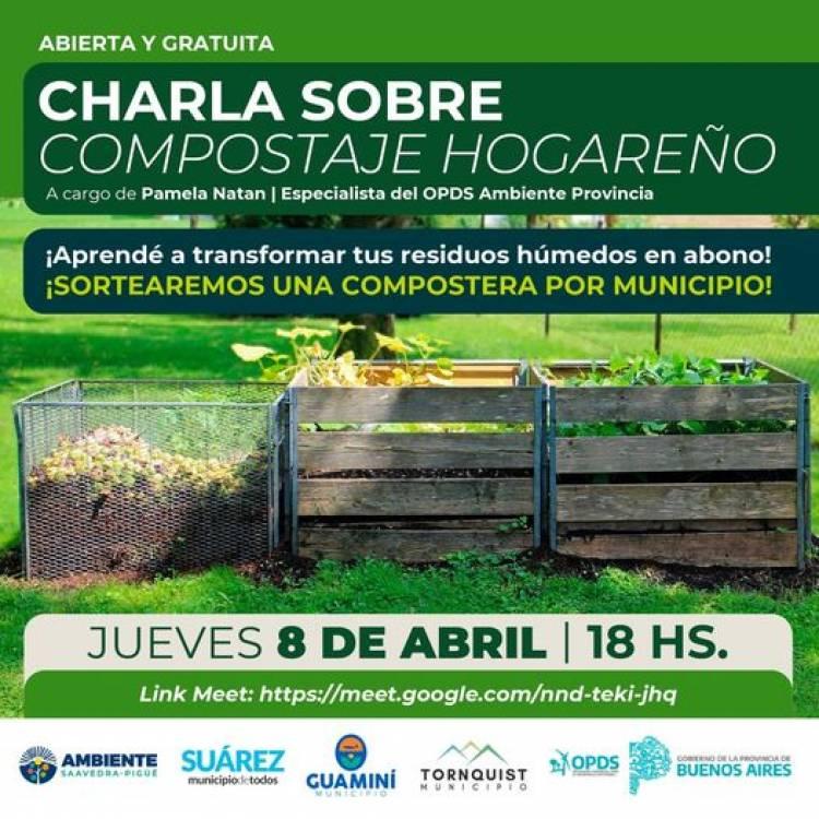 Ambiente: Charla sobre compostaje con especialista del OPDS Provincia