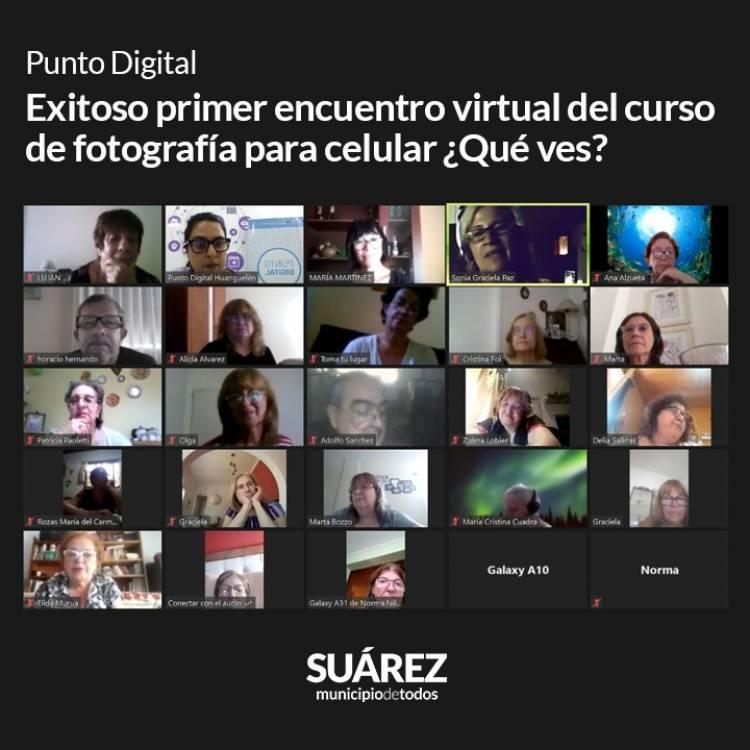 Punto Digital: Exitoso primer encuentro virtual del curso de fotografía para celular ¿Qué ves?⠀