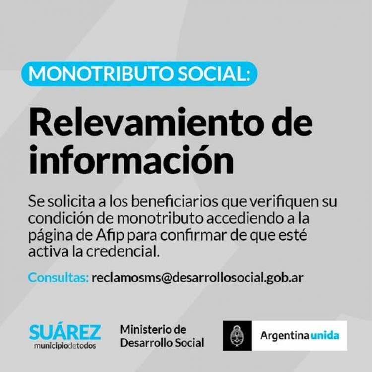 Monotributo Social: Relevamiento de información⠀