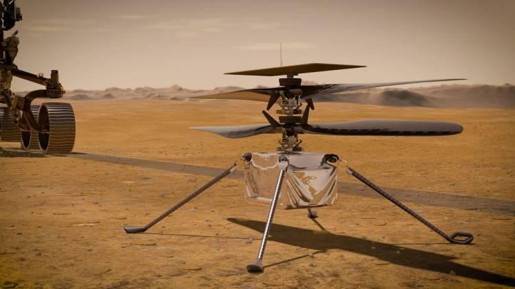 El helicóptero Ingenuity de la NASA realiza con éxito su primer vuelo en Marte