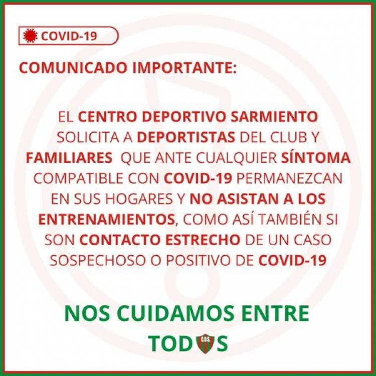 COMUNICADO IMPORTANTE CDS