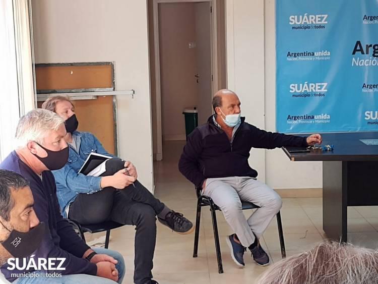 Moccero se reunió con los presidentes de los clubes del distrito