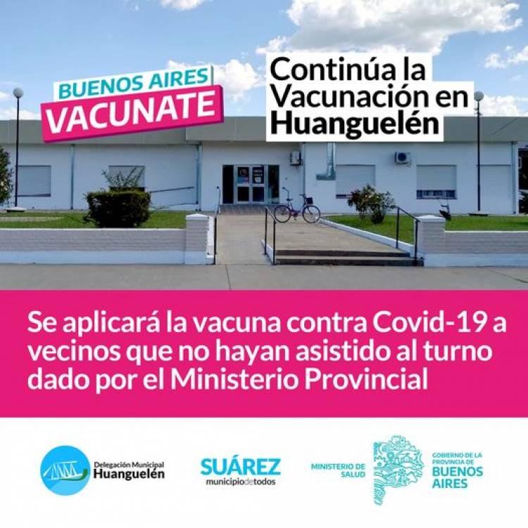 Continúa la Vacunación en #Huanguelén