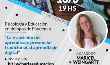 """Educación:Segunda Charla Virtual: """"Psicología y Educación en tiempos de Pandemia"""""""