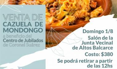 Venta de Cazuela de Mondongo a beneficio del Centro de Jubilados de Coronel Suárez