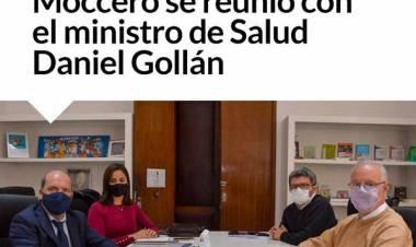 Moccero se reunió con el ministro de Salud Daniel Gollán
