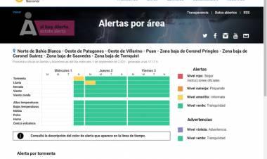 Alerta Amarilla: por lluvias y tormentas