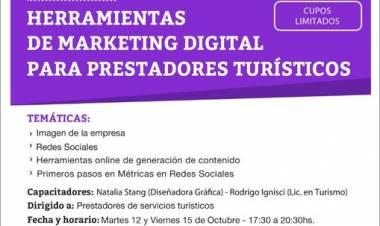 Capacitación Virtual Marketing Digital para prestadores turísticos