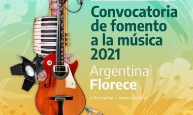 """Sumate a la convocatoria de fomento a la música 2021 """"Argentina Florece"""""""