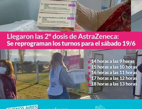 Llegaron las 2° dosis de AstraZeneca