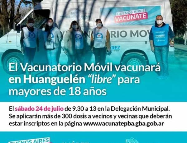 """El Vacunatorio Móvil vacunará en Huanguelén """"libre"""" para mayores de 18 años"""
