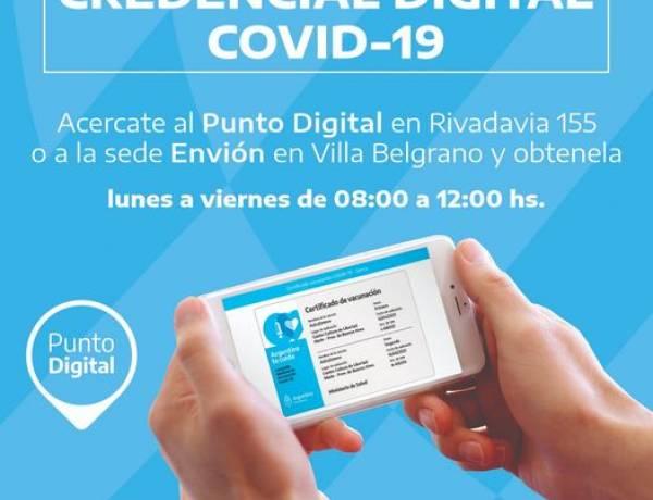 ¿Querés tener tu Credencial Digital Covid-19: dirigite al Punto Digital más cercano a tu domicilio que te ayudamos⠀