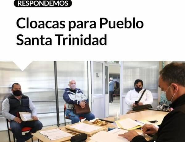 Cloacas para Pueblo Santa Trinidad⠀