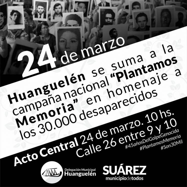 Huanguelén: Acto Oficial por el día Nacional de la Memoria por la Verdad y la Justicia⠀