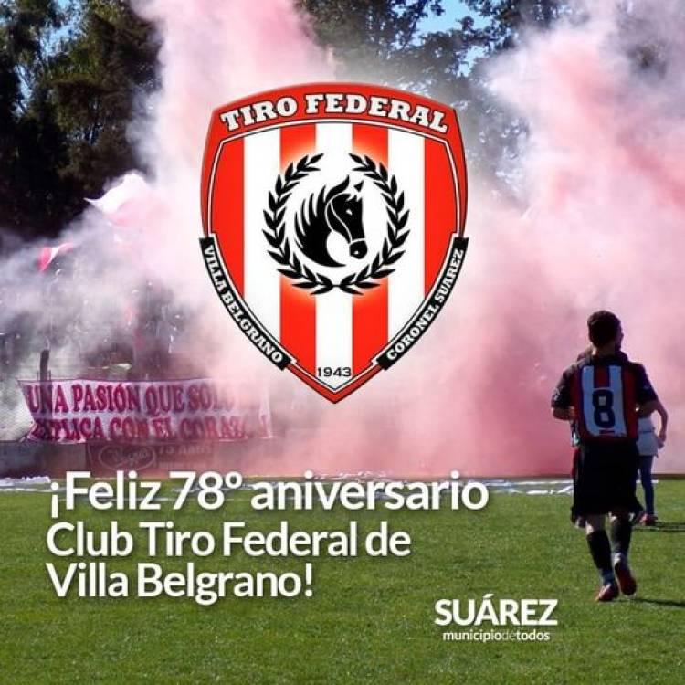 Feliz 78° aniversario club Tiro Federal de Villa Belgrano