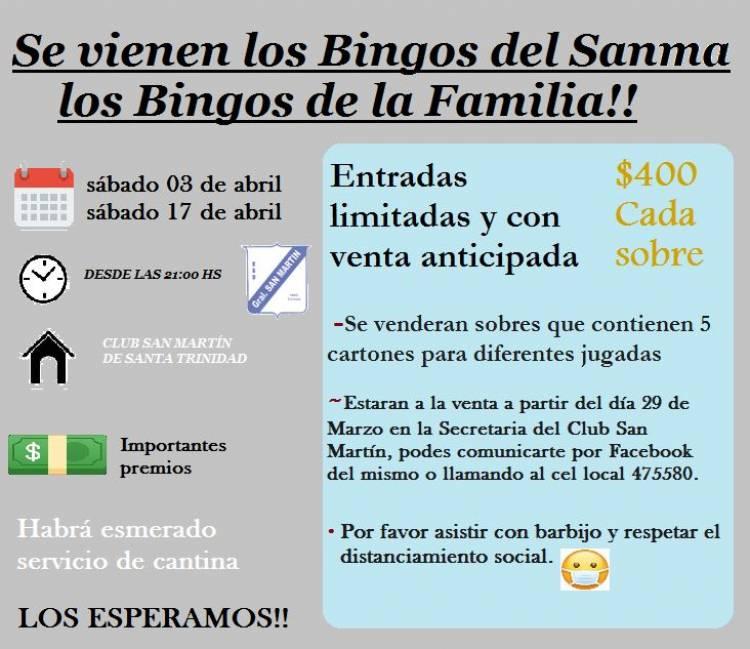 Llego a club San Martín lo que mas estábamos esperando, los espectaculares bingos del Sanma!!