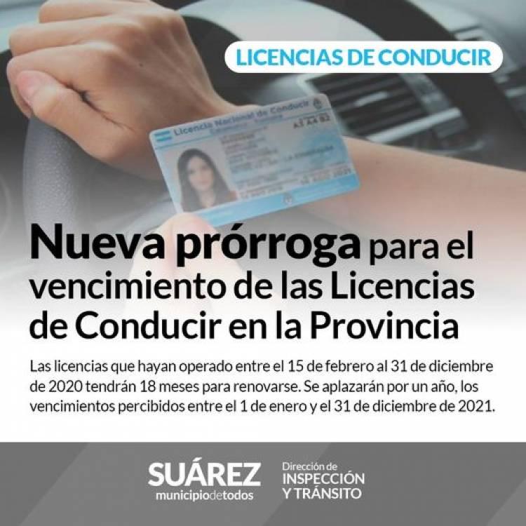 Nueva prórroga para el vencimiento de las Licencias de Conducir en la Provincia⠀