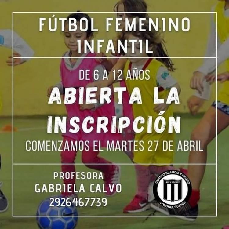 Comienza esta tarde la Escuelita de Fútbol Femenino
