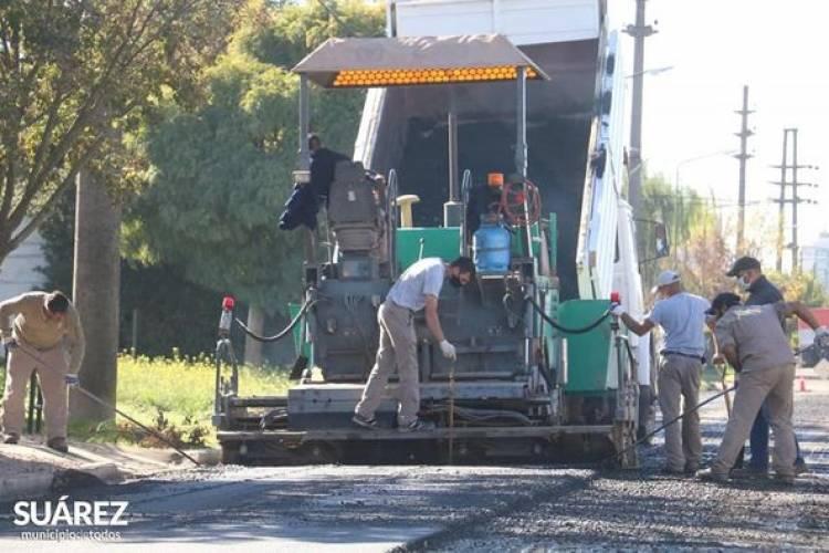 Avanza la obra de pavimento en barrio Brandenberg