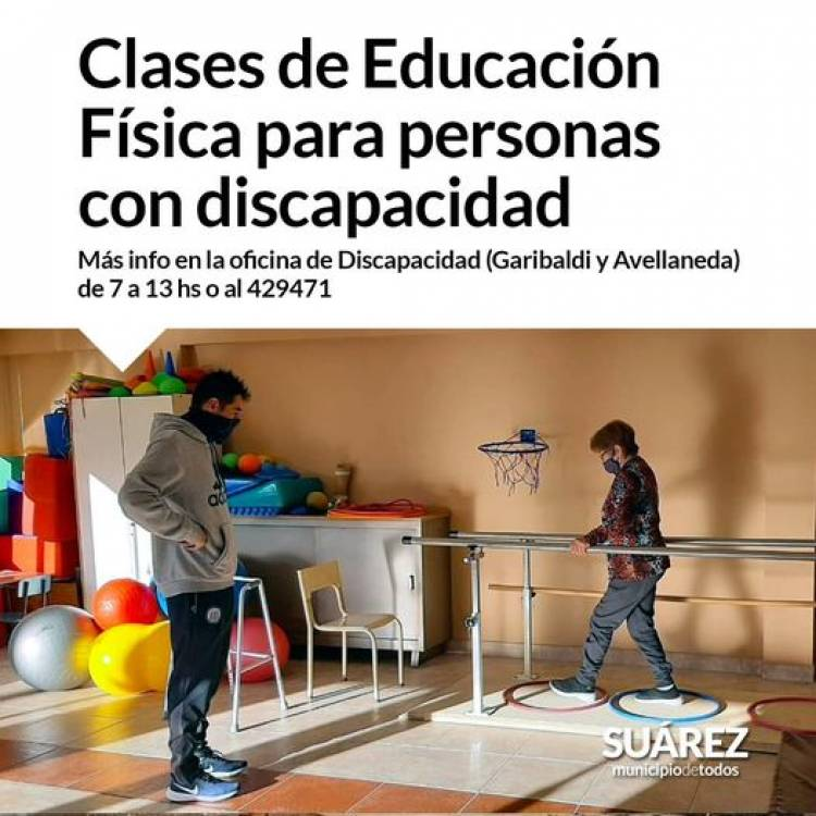Clases de Educación Física para personas con discapacidad