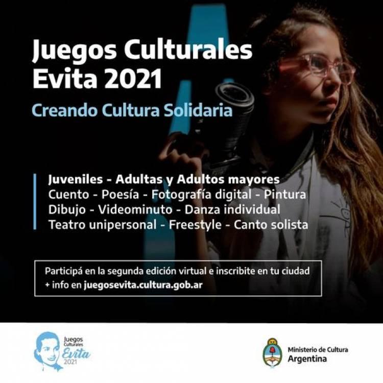 Se viene la segunda edición virtual de los Juegos Culturales Evita