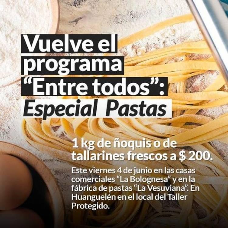 """Vuelve el programa """"Entre todos"""": Especial Pastas"""
