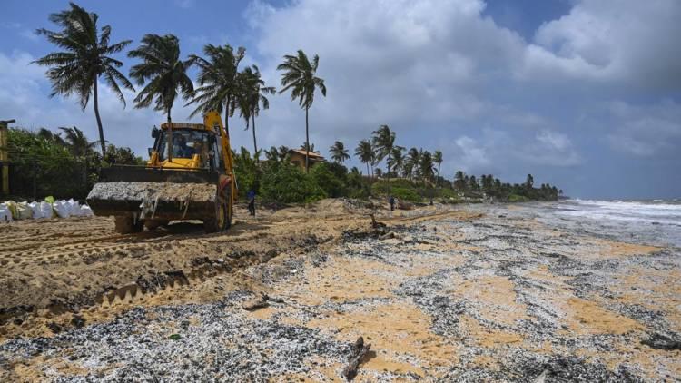 Las playas de Sri Lanka podrían sufrir la peor contaminación de la historia