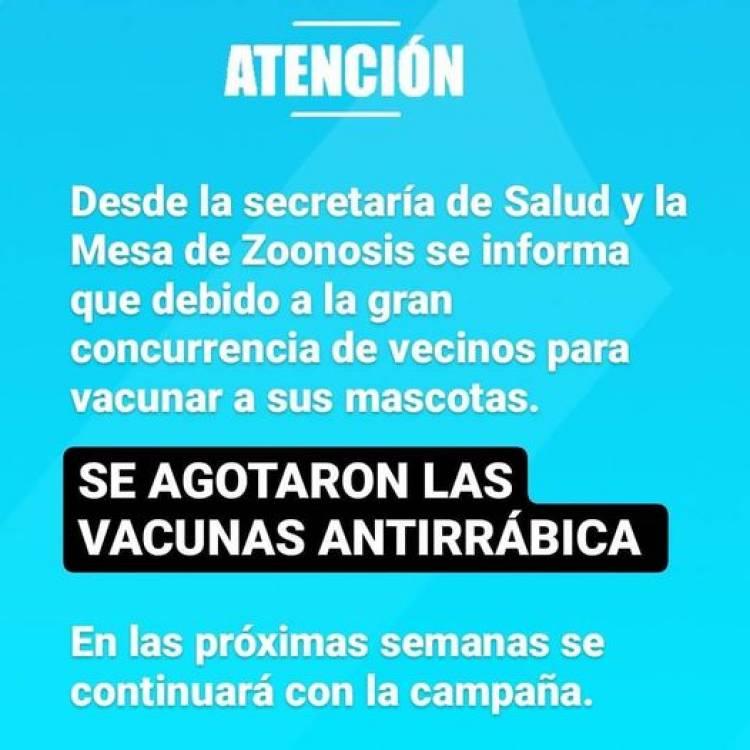 se AGOTARON las VACUNAS ANTIRRÁBICAS