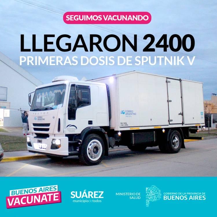 "LLEGARON 2400 1° DOSIS DE SPUTNIK V: ""Seguimos vacunando""⠀"