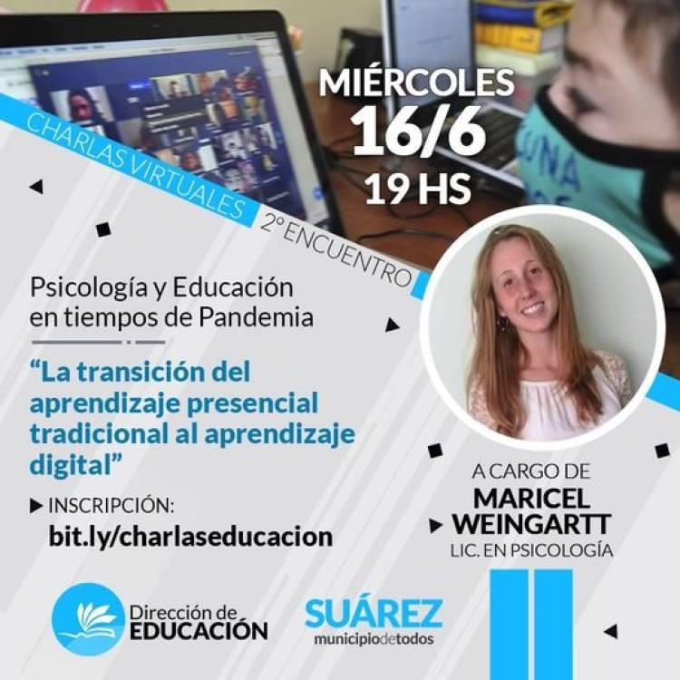 """Segunda Charla Virtual: """"Psicología y Educación en tiempos de Pandemia"""""""