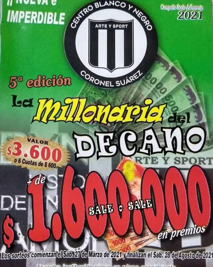 """""""La Millonaria del Decano"""" - 5ª edición"""