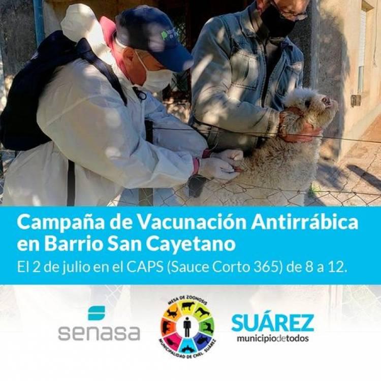 Campaña de Vacunación Antirrábica en Barrio San Cayetano⠀