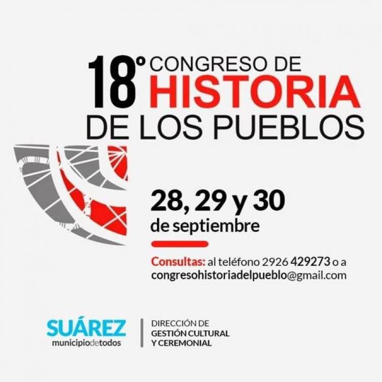 """Cultura:  """"18° Congreso de Historia de los Pueblos de la provincia de Buenos Aires"""""""