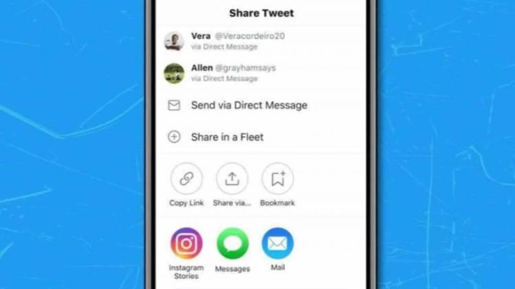 Twitter habilitó la opción de compartir tuits directamente en las Historias de Instagram
