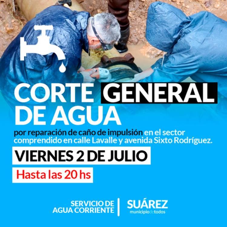 ATENCIÓN CORTE GENERAL DE AGUA
